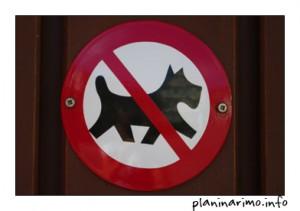 Zabranjen ulaz psima